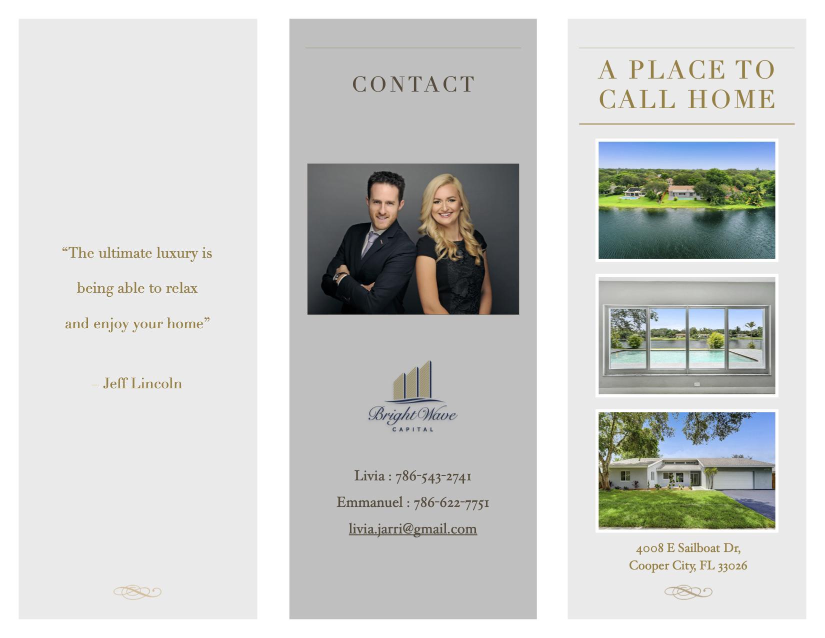 Brochure 4008 E Sailboat Dr, Cooper City, FL 33026 (cover)