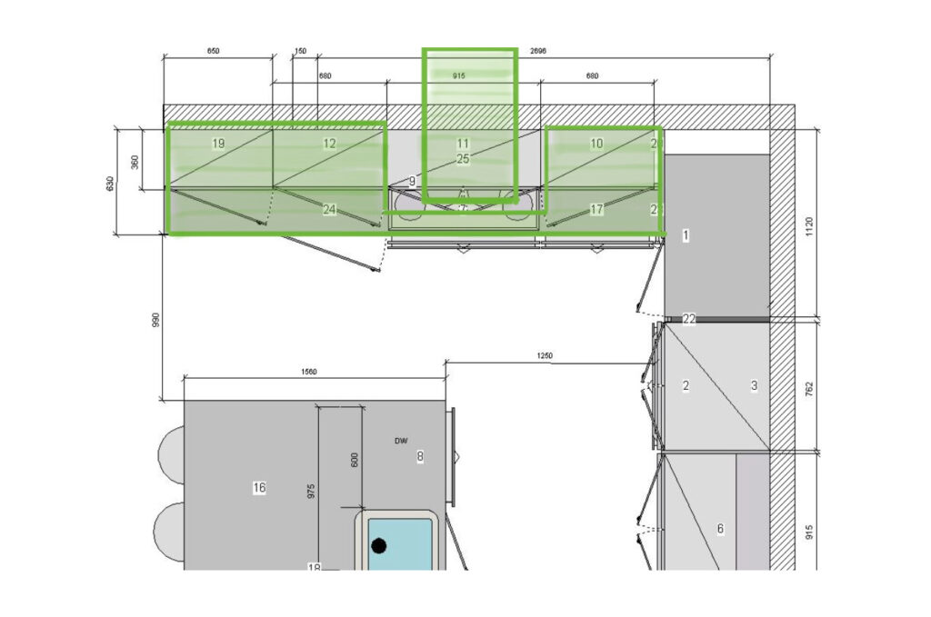 Optimisation of the slabs needed for the project
